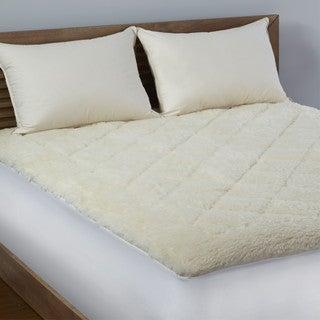 lc platinum reversible wool cotton mattress topper