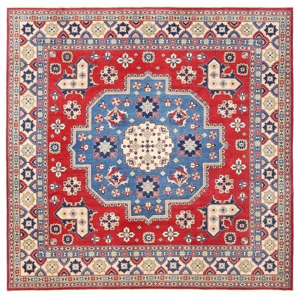 Herat Oriental Afghan Hand Knotted Vegetable Dye Kazak Wool Rug (12u0026#x27;