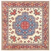 Herat Oriental Afghan Hand-knotted Vegetable Dye Kazak Wool Rug (12'10 x 3'1)