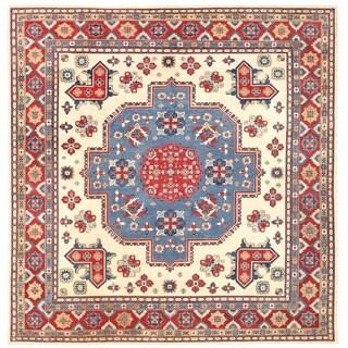 Handmade Herat Oriental Afghan Vegetable Dye Kazak Wool Rug (Afghanistan) - 12'10 x 3'1