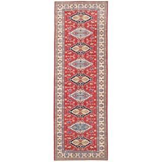 Herat Oriental Afghan Hand-knotted Vegetable Dye Kazak Wool Runner (5'5 x 16'6)