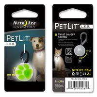 Nite Ize Lime Green Stylish LED Dog Collar Light