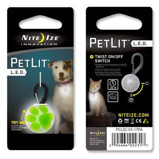 Nite Ize Lime Green Stylish LED Dog Collar Light