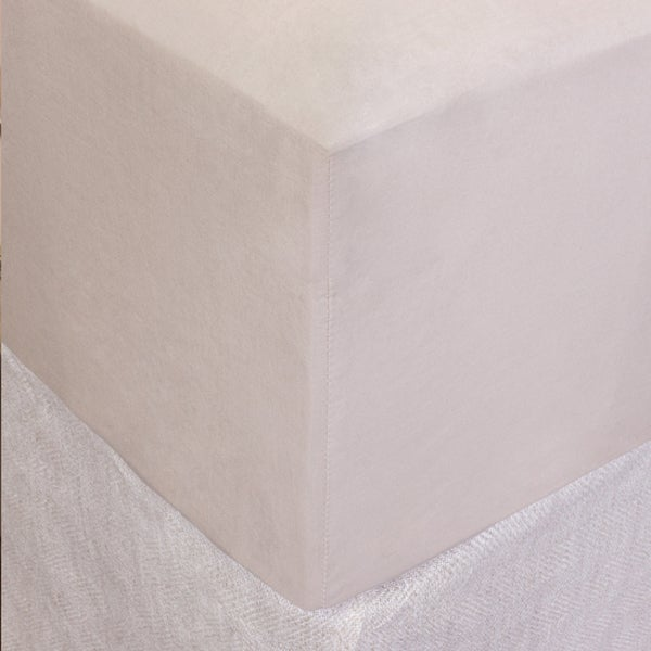 Taupe Cotton Box Spring Cover