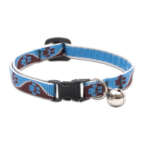 """Lupine Collars & Leads 1/2"""" X 8-12"""" Muddy Paws Cat Collar With Bell"""