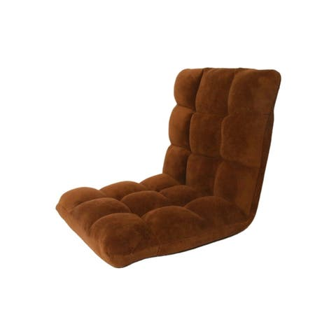 Loungie Microplush Recliner Gaming Chair Adjustable Floor Mat