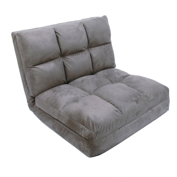 Loungie Microsuede 5 Position Convertible Flip Chair/ Sleeper   Free  Shipping Today   Overstock.com   21336231