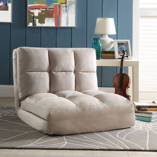 Loungie Microsuede 5-position Convertible Flip Chair/ Sleeper