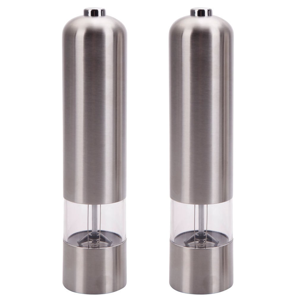 Silvertone Stainless Steel Electric Automatic Pepper Mill...