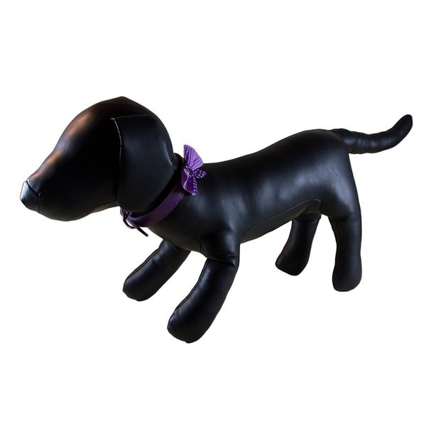 Petcessory Purple Polka Dot Bow Tie Dog Collar