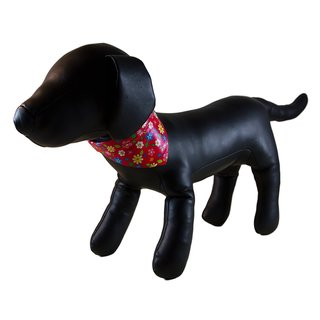 Petcessory Flower Bandana Red Dog Collar
