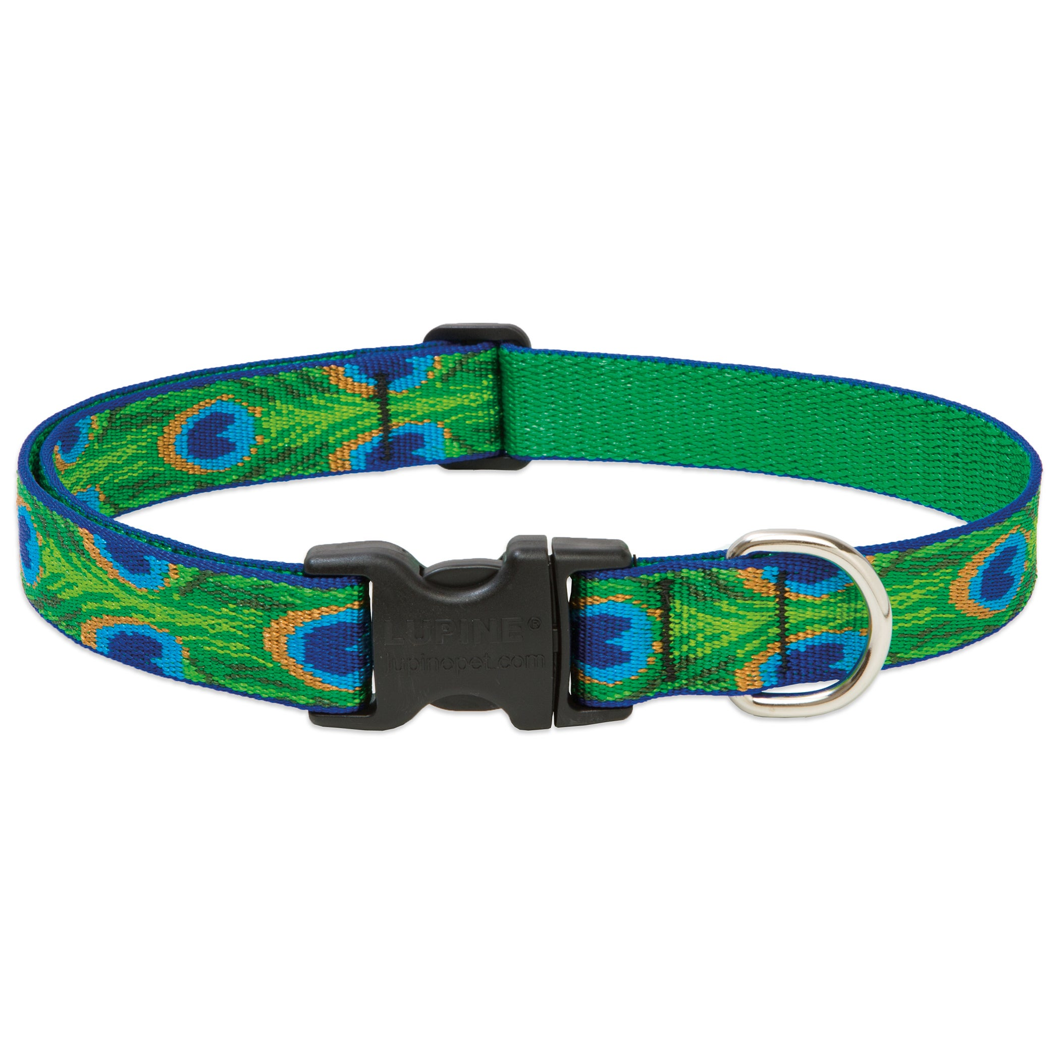 """LUPINE Collars & Leads Tail Feathers Collar (1x12-20""""), G..."""