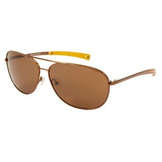 Gant Sun GRS-AREO-BRN-1 Brown 63 mm Aviator Sunglasses