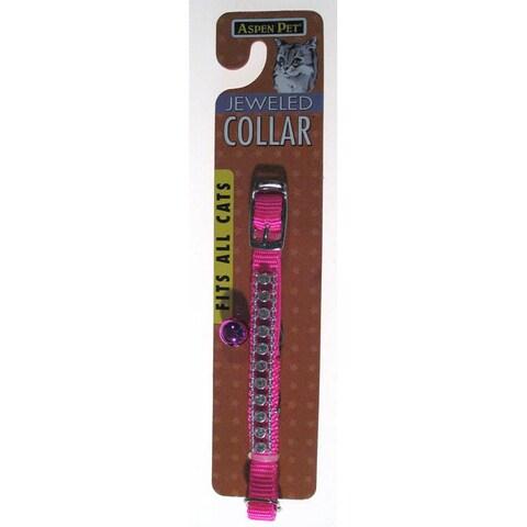 "Petmate 3/8"" Hot Pink Jeweled Break Away Cat Collar"