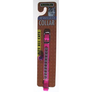 "Petmate 3/8"" Hot Pink Jeweled Break Away Cat Collar"