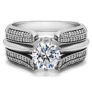 Sterling Silver 1ct TW Round Cubic Zirconia Ring