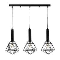 3-light Geometric Pendant with Bulbs