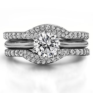 Sterling Silver 1 3/4ct TW Round Cubic Zirconia Solitaire Ring