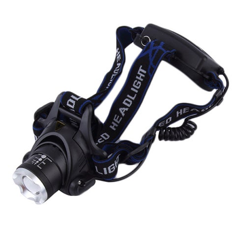 12W XML T6 LED 2000Lm Zoomable Headlamp with Car Charger