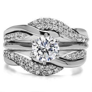 Sterling Silver 1 1/2ct TW Round Cubic Zirconia Solitaire Ring (Option: 9.5)