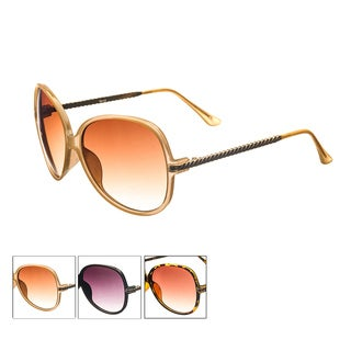 Pop Fashionwear Women's P4113 Designed Fashion Oversized Oval Sunglasses