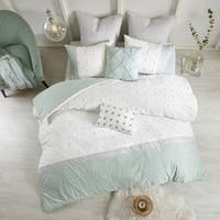 Urban Habitat Jojo Ivory 7 Piece Cotton Jaquard Duvet Cover Set