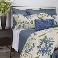 Ann Gish Blue Flora 3-piece Duvet Cover Set