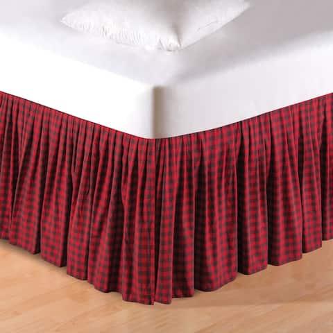 Buffalo Checks Red and Black Cotton Bedskirt