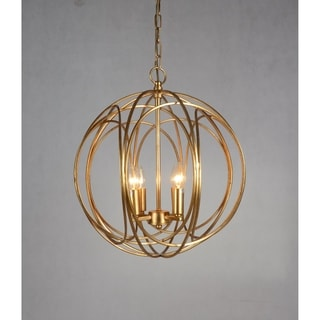 Y-Decor Gold 4-light Orb Chandelier