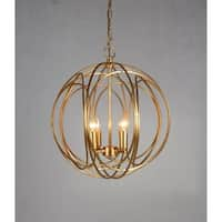Y-Decor 4 Light Orb Chandelier in Gold finish