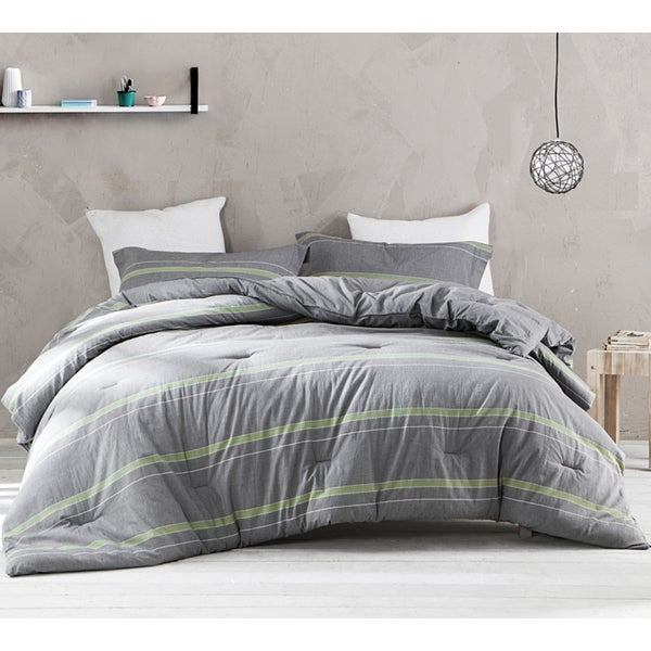 BYB Tungsten Lime Comforter (Shams Not Included) - Grey