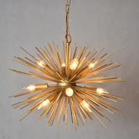 Y-Decor Gold-tone Metal 12-light Chandelier