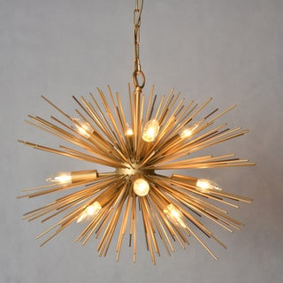 Y-Decor 12 Light Chandelier in Gold finish