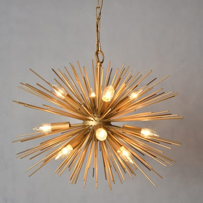 AA Warehousing 12 Light Chandelier in Gold finish