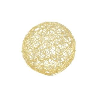 Three Hands Goldtone Metal Wire Orb