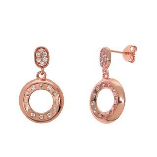 Eternally Haute Pave Cubic Zirconia Circle Drop Earrings