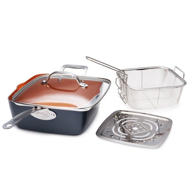 Gotham Steel 9.5 Deep Square Pan Set. Opens flyout.