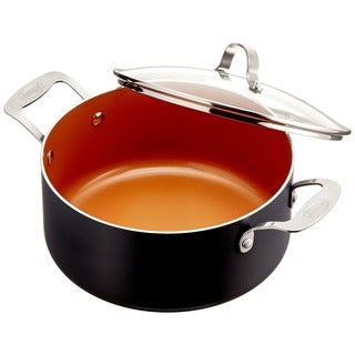 Gotham Steel 5 Quart Stock Pot with Lid