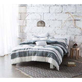 BYB Sunset Grey Stripe Comforter (Shams Not Included) - Grey/White