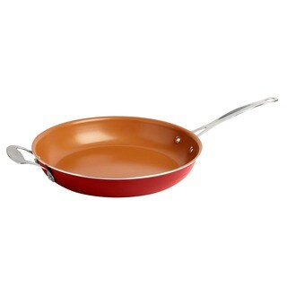 Gotham Steel Ti Cerama Red 12.5-inch Nonstick Fry Pan