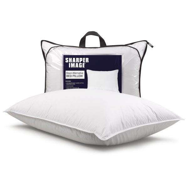 Sharper Image Antimicrobial + Stain Release Down Alternative Bed Pillow