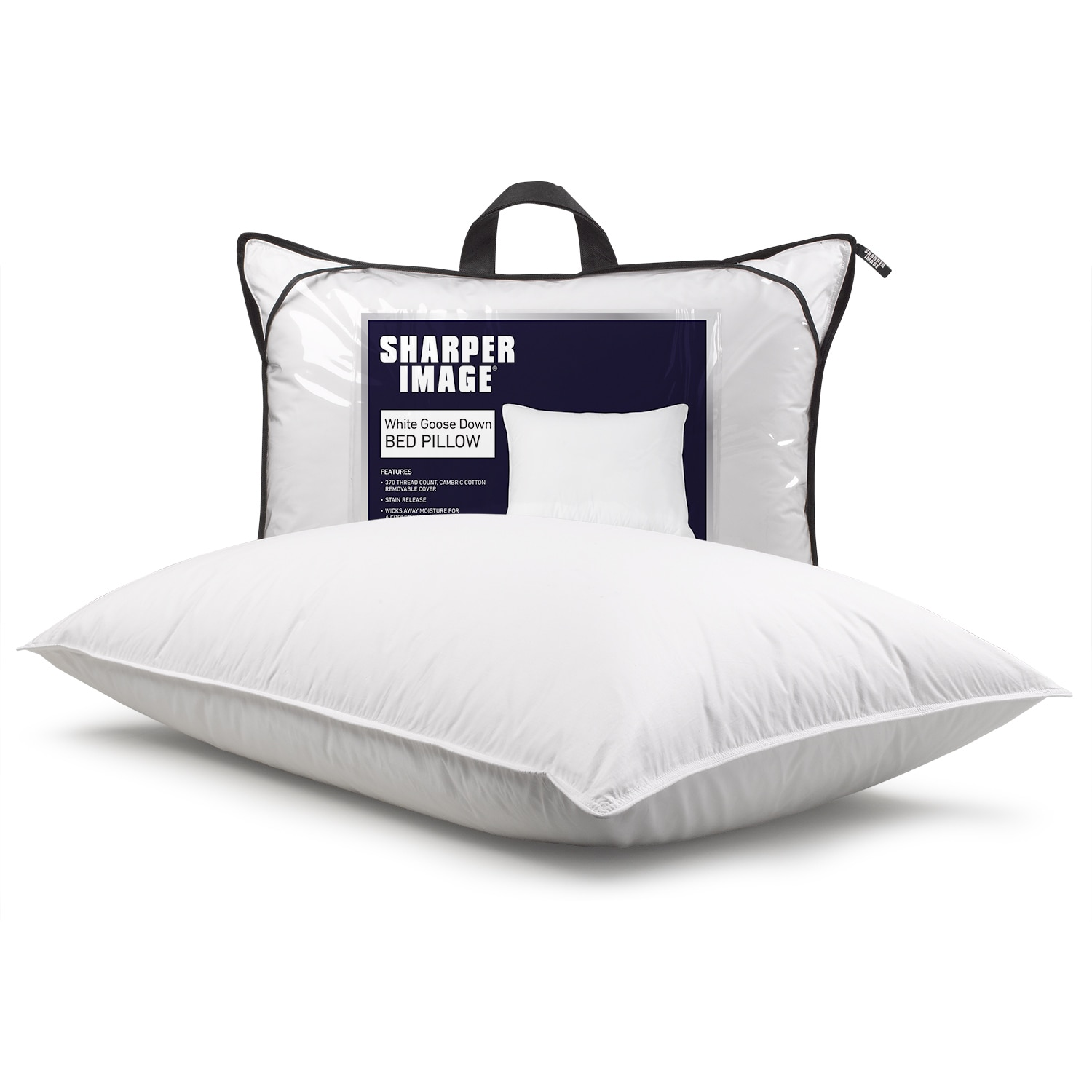 Sharper Image Antimicrobial + Stain Release White Goose D...