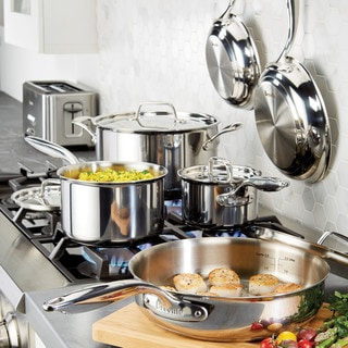 Breville(r) Thermal Pro(tm) Clad Stainless Steel 10-Piece Cookware Set