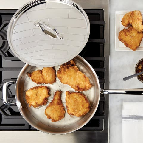 Breville Thermal Pro Clad Stainless Steel 5-quart Covered Saut with Helper Handle