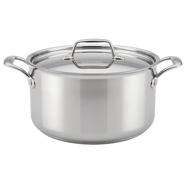 Breville Thermal Pro Clad Stainless Steel 8-quart Covered Stockpot. Opens flyout.