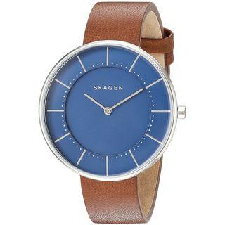 Skagen Women's SKW2612 'Gitte' Brown Leather Watch