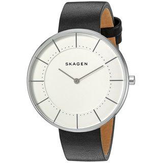 Skagen Women's SKW2611 'Gitte' Black Leather Watch