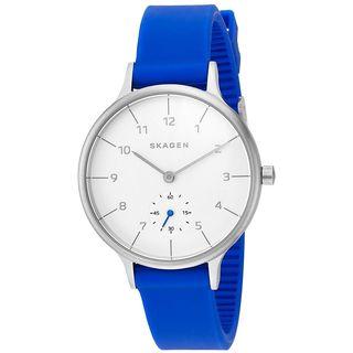 Skagen Women's SKW2602 'Anita' Blue Silicone Watch