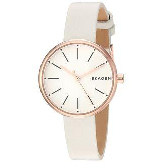 Skagen Women's SKW2595 'Signatur' White Leather Watch