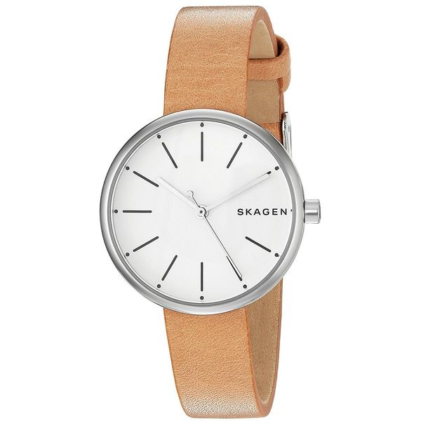 b78eb1f6fb315 Shop Skagen Women s  Signatur  Brown Leather Watch - Free Shipping Today -  Overstock - 14819805